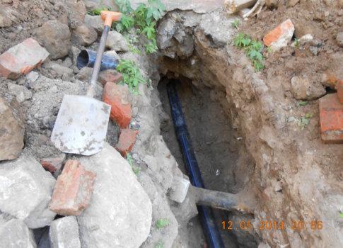 прокладка канализационной трубы d110мм (ремонт системы канализации) в здании детской коррекционной школы № 61VIII.