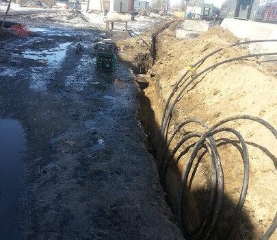 Строительство кабельной канализации методом горизонтально направленного бурения (ПНД 63 мм длиной 72м), г. Казань, Ранжирный парк, ст. Казань