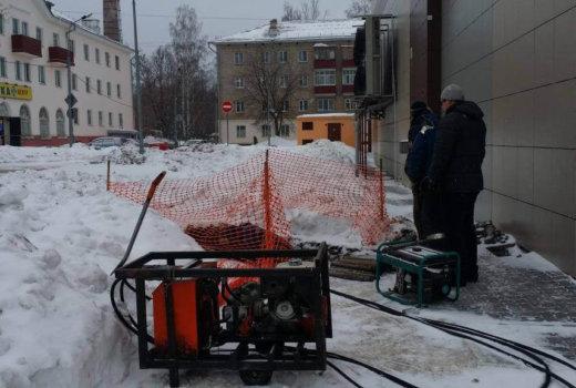 Прокладка кабельной канализации методом ГНБ для подключения магазина Бахетле к оператору связи Ростелеком