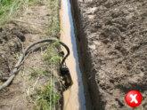 Откачка воды из траншеи